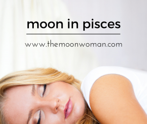 moon in pisces, the moon woman