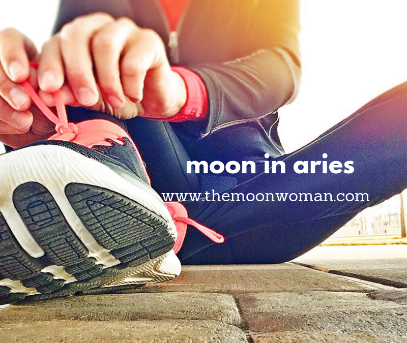 Copy of moon in aries, the moon woman