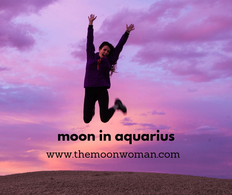 moon in aquarius, the moon woman