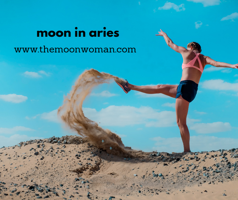 moon in aries, the moon woman