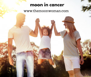 moon in cancer, the moon woman